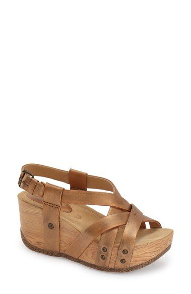 Lyst Bussola Orly Wedge Sandals In Metallic