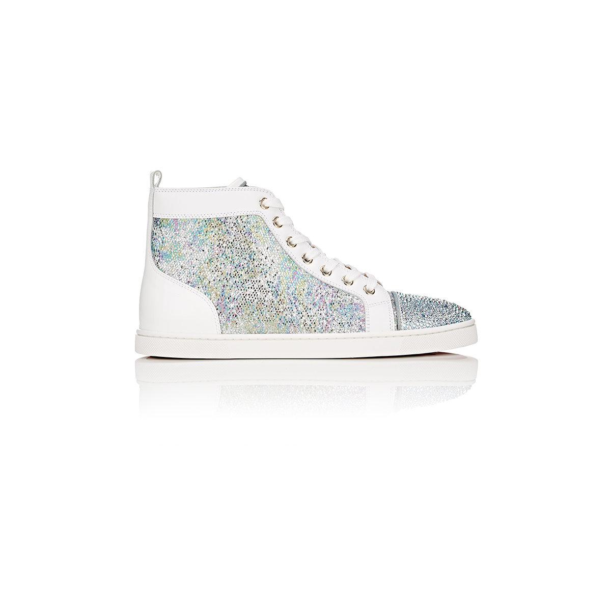 ac4b8f05b660 Lyst - Christian Louboutin bip Bip Strass Woman Flat Sneakers