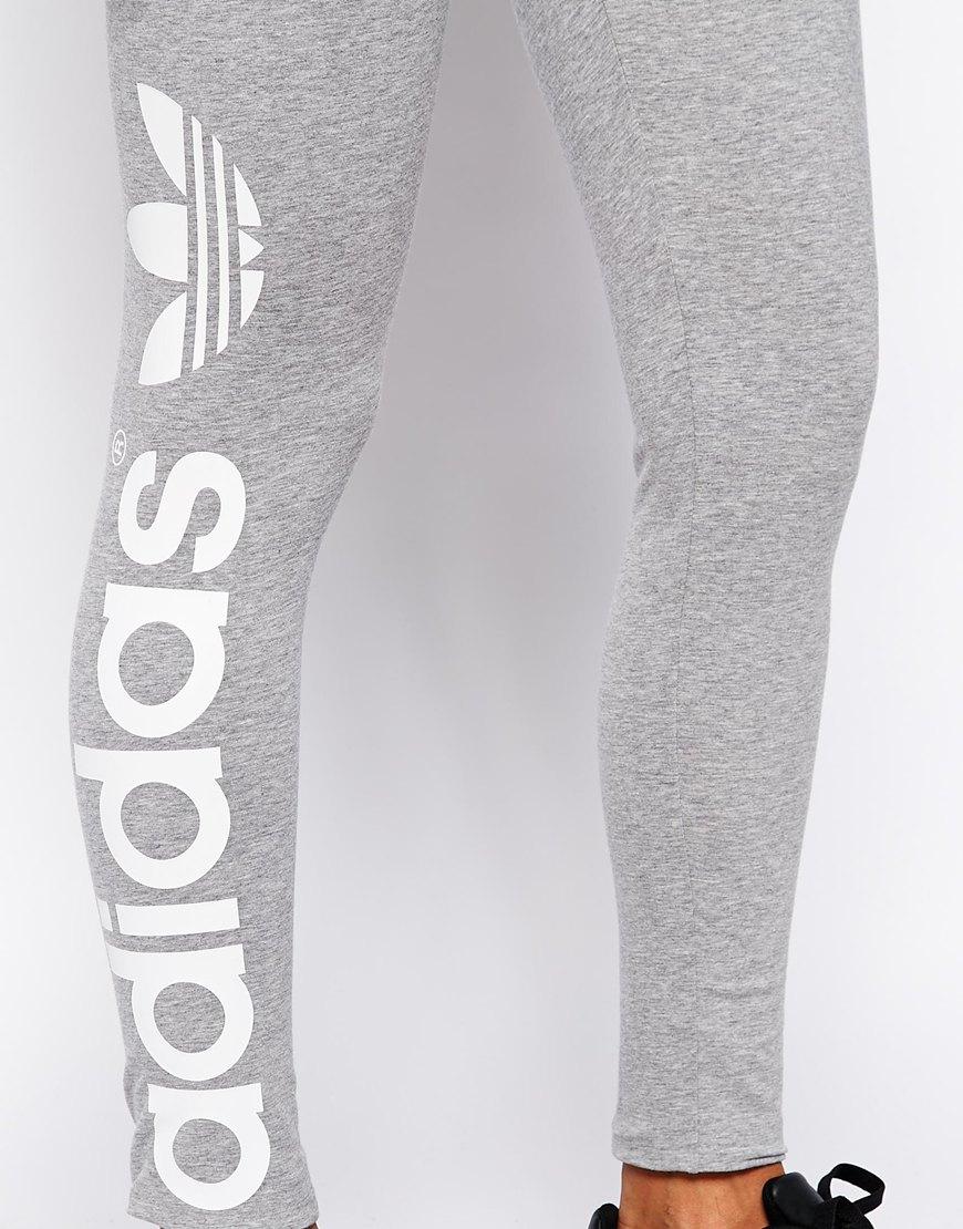 e3fa944c0b1282 adidas Originals Trefoil Leggings in Gray - Lyst