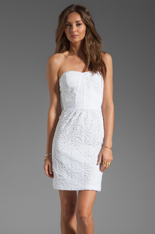 Rebecca taylor Eyelet Strapless Dress in White - Lyst