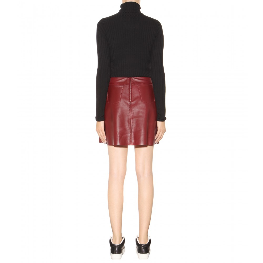 acne studios leala leather skirt in lyst
