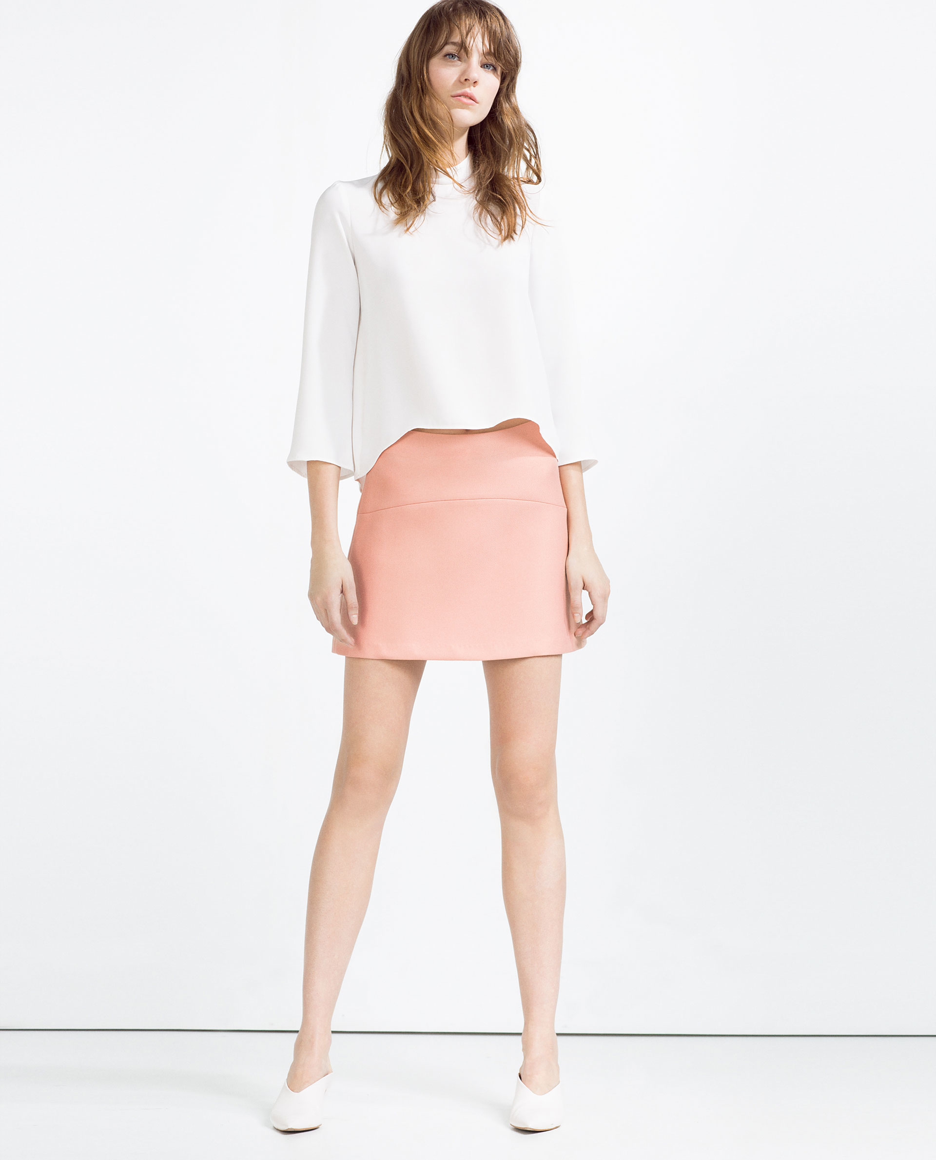 Zara Mini Skirt in Pink | Lyst