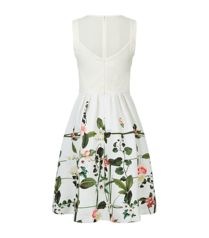 67d4eb1c771fd Ted Baker Karolie Secret Trellis Dress in White - Lyst