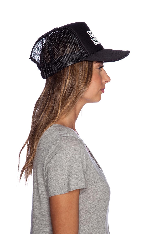 Lyst - Samudra Tropical Gangster Trucker Hat in Black 9155a4bbd4fc