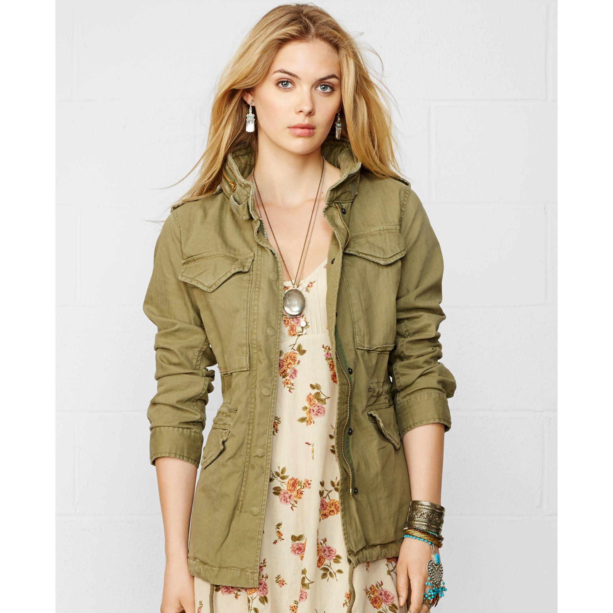 Lyst - Denim   Supply Ralph Lauren Herringbone Field Jacket in Green c5623e650