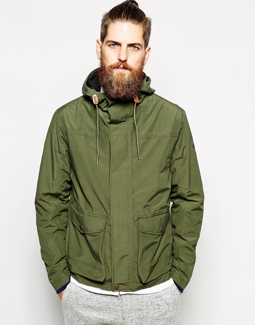 Timberland Jacket With Hood In Green For Men Lyst