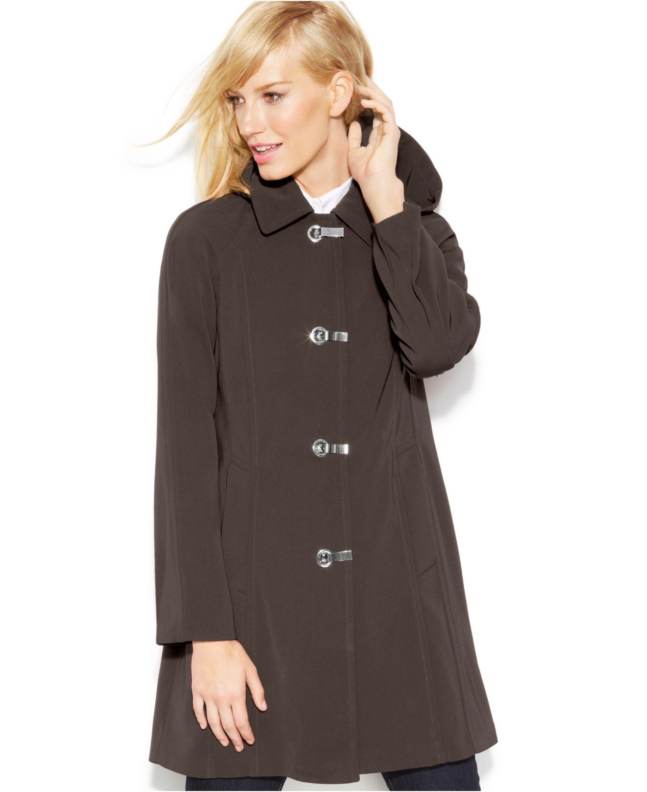 978e7b8922b Lyst - London Fog A-Line Raincoat in Brown