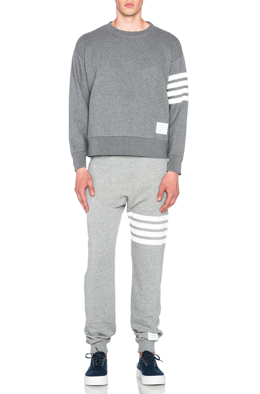 799e4c45d62 Thom Browne Men's Oversized Crewneck Sweatshirt in Gray - Lyst