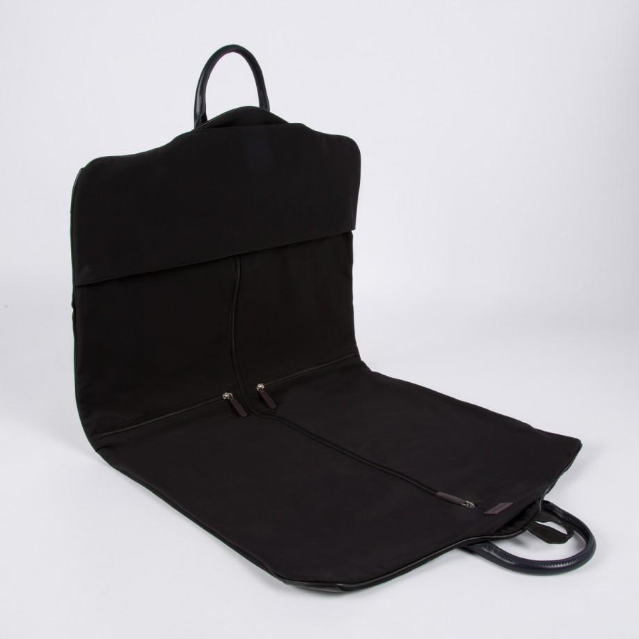 Paul smith Men\u0026#39;s Black Pebble Embossed Leather Trim Suit Carrier ...