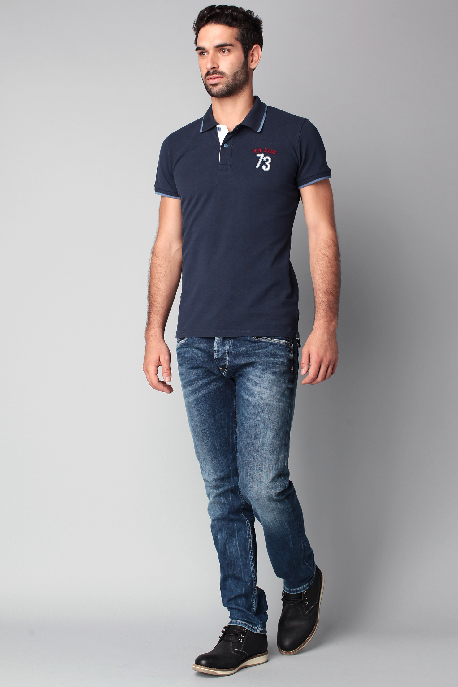 Pepe jeans Polo Shirt in Blue for Men
