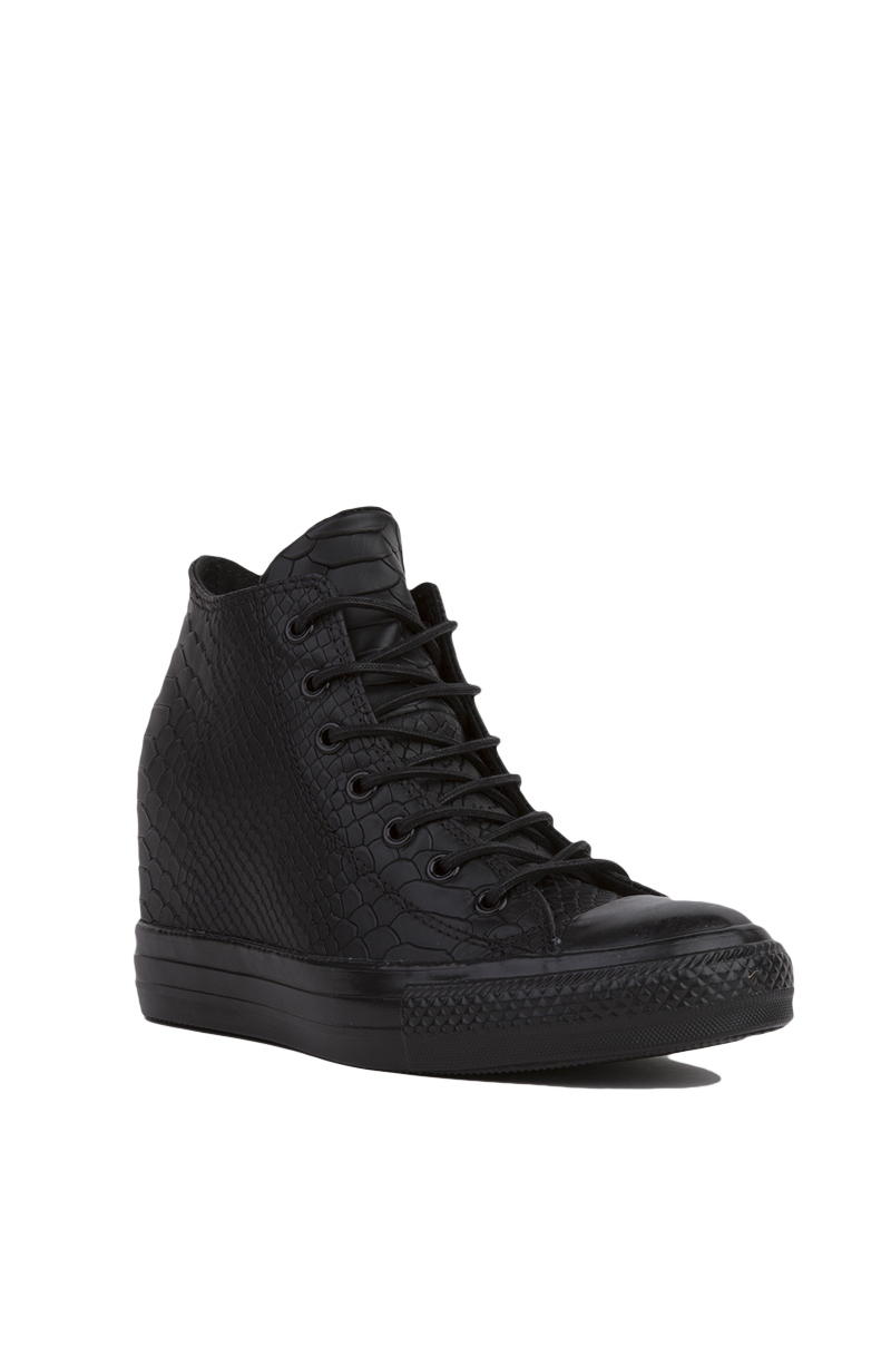 0960577dc7aa Lyst - Converse Chuck Taylor All Star Lux Embossed Reptile Mid Top ...