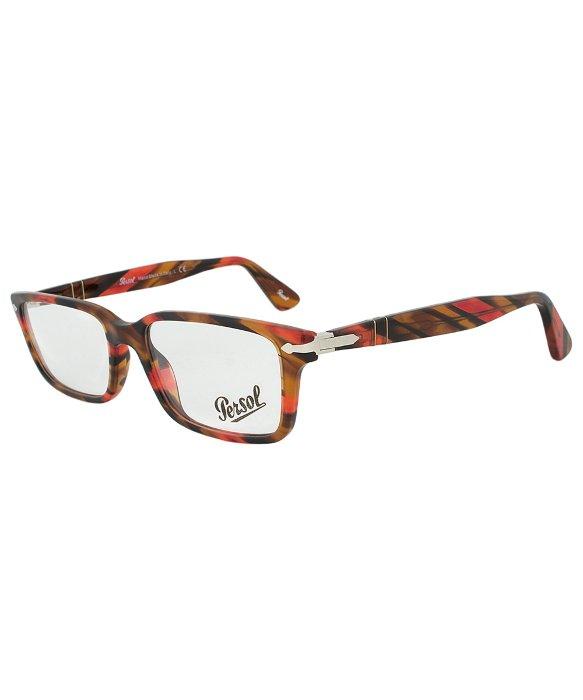 Eyeglass Frames Rectangular : Persol Po2965vm 978 Rectangular Eyeglass Frame in Red for ...