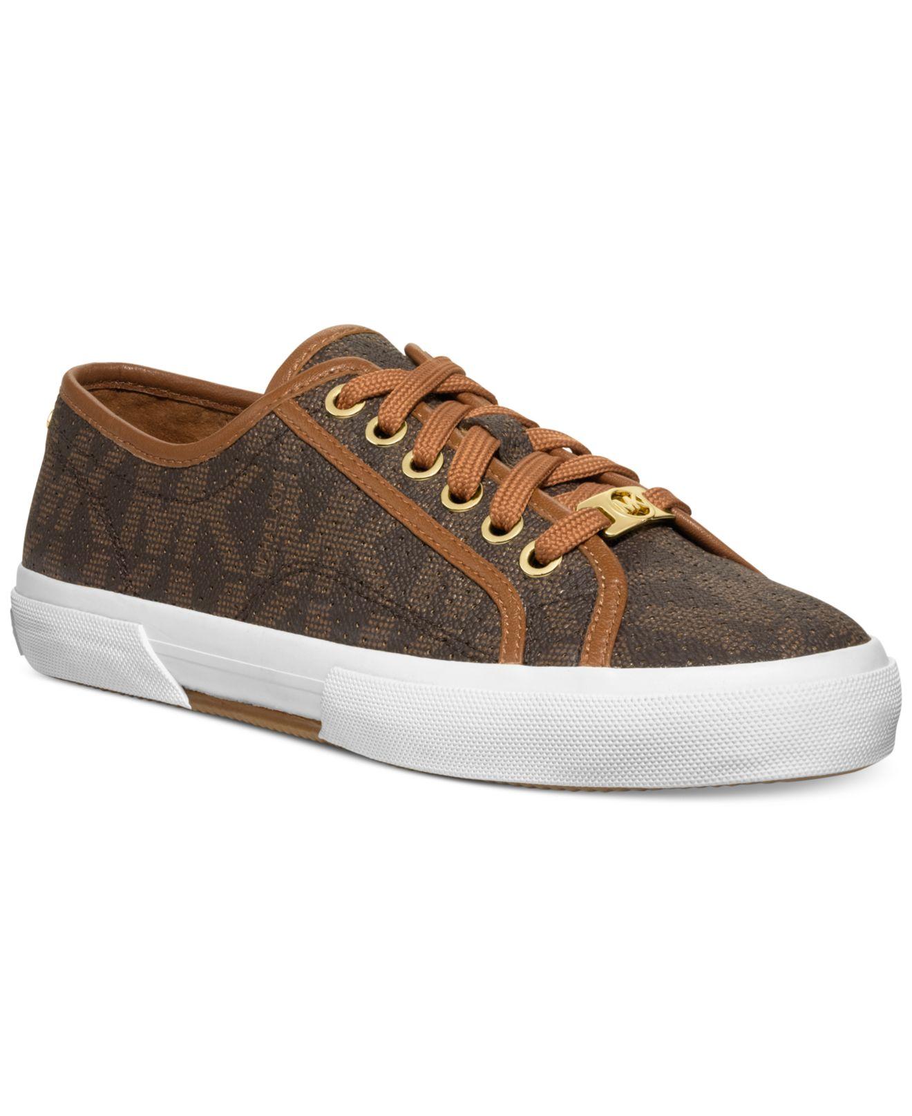 cee2ef9446390 Lyst - Michael Kors Michael Boerum Sneakers in Brown