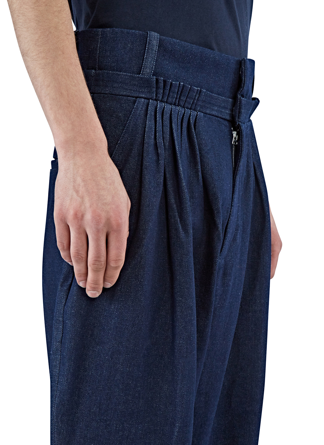 J.w.anderson Men's Oversized Pleated Denim Pants In Indigo in Blue ...
