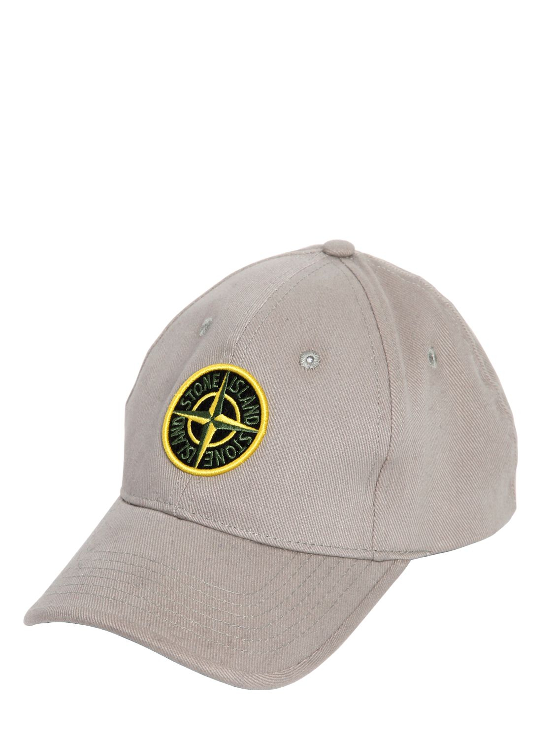 Stone Island Cotton Canvas Baseball Hat in Natural for Men - Lyst b339f357bb5f