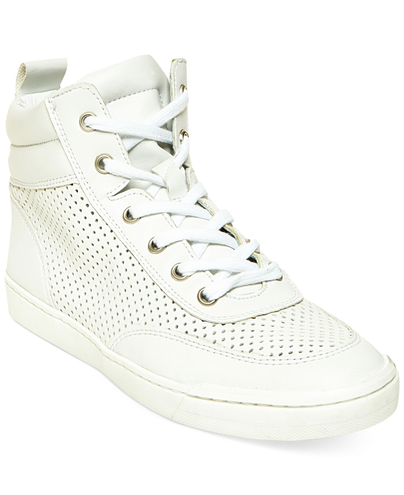 e1895c12a2e Lyst - Steve Madden Women s Mikeyy High Top Sneakers in White