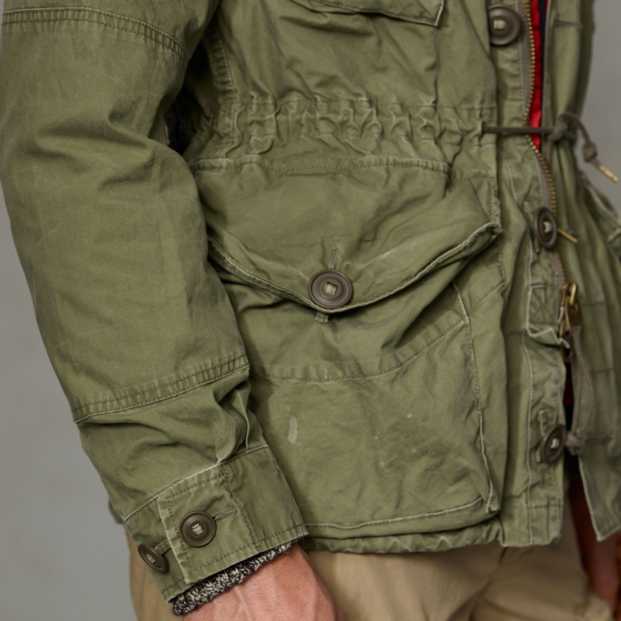Polo Ralph Lauren Embroidered Combat Jacket In Green For