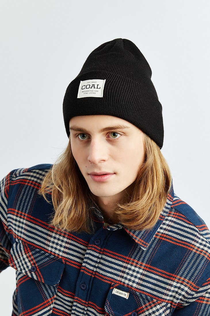 Lyst - Coal The Uniform Beanie in Black for Men 8a24947396c3