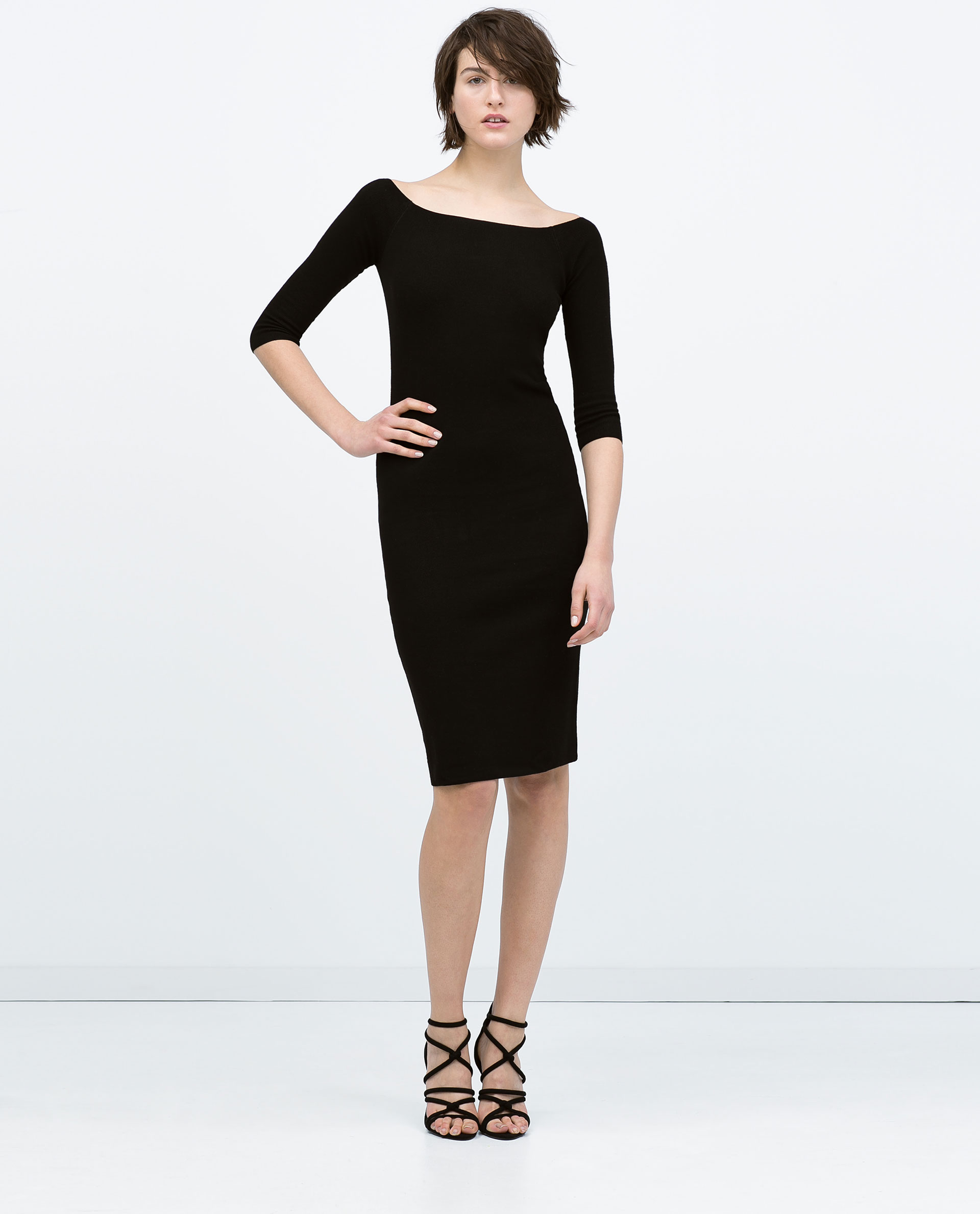Simple Zarareddresswithzipsatbackdresswithzipsatbackproduct3