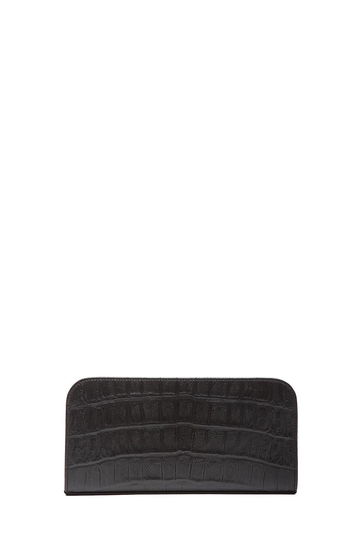 ysl black clutch - monogram saint laurent chain wallet in black crocodile embossed ...