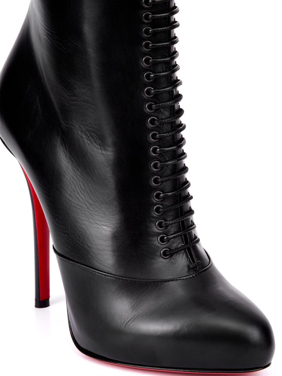 christian louboutin lamadone 120mm leather boots in black