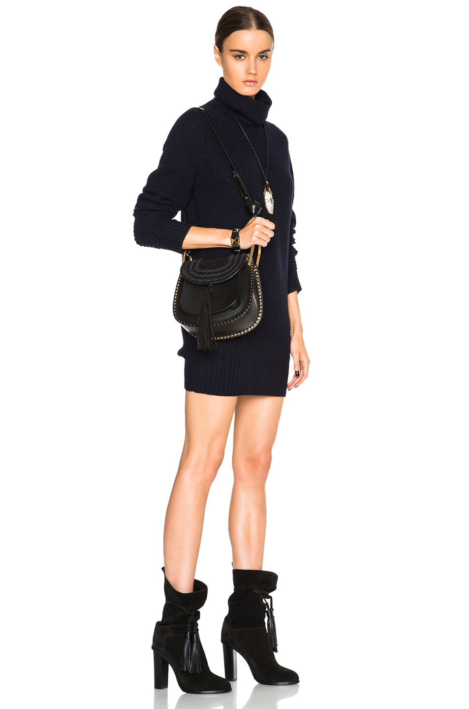 Chlo�� Hudson Braided Leather Bag in Black | Lyst