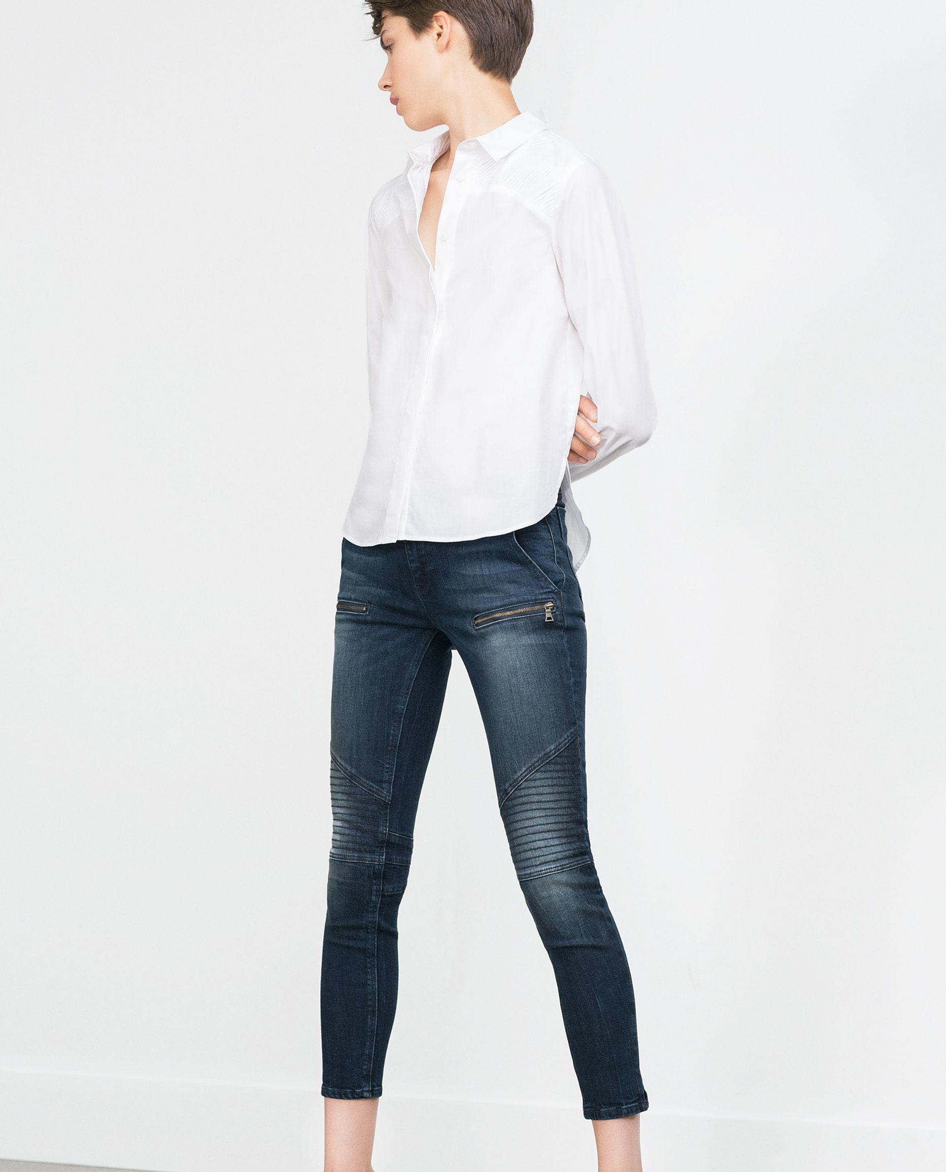 Excellent Zara Spring 2015 Women Lookbook Doublebreasted Coat Amp Flared Jeans