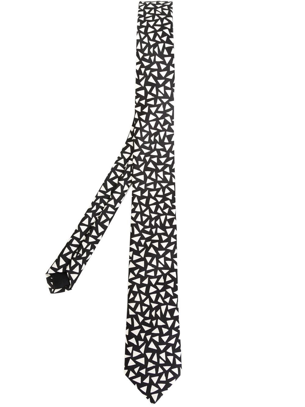 0a1dd4951580f Lyst - Saint Laurent Triangular Print Tie in Black for Men