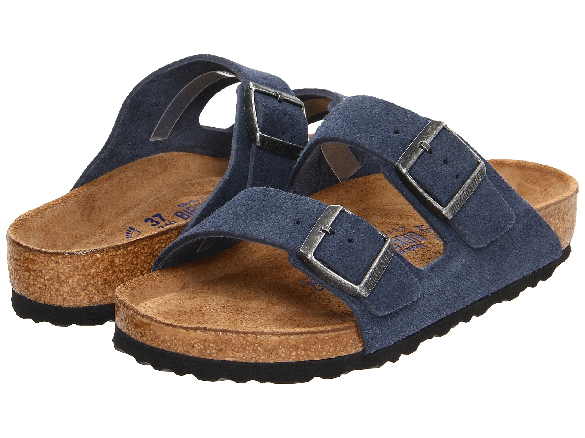 7e19d9cddfc4 Lyst - Birkenstock Arizona Soft Footbed - Suede in Blue