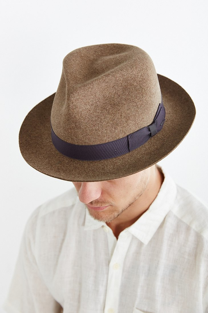 Lyst Bailey Of Hollywood Bertram Fedora Hat In Brown For Men