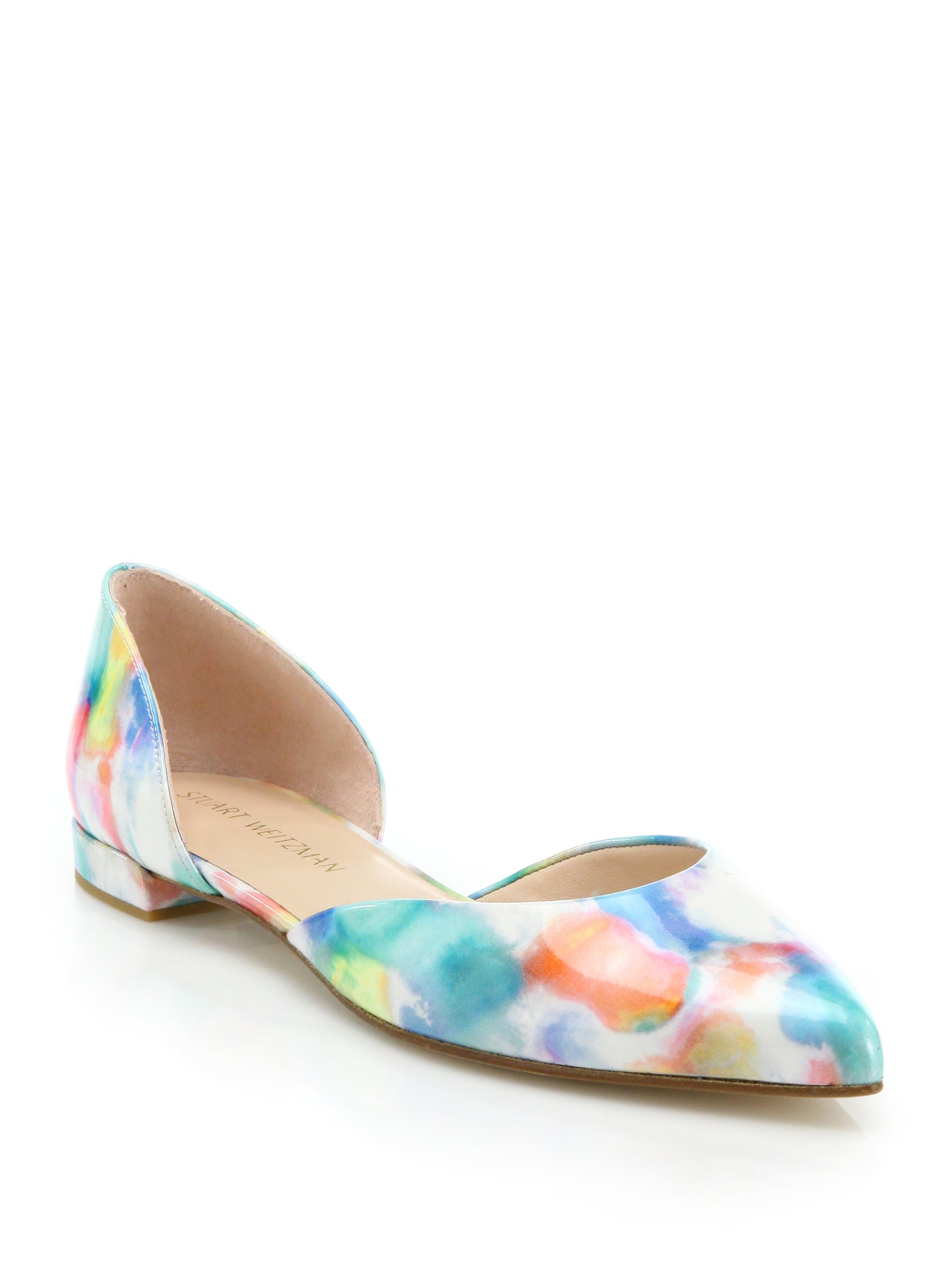 Stuart Weitzman Patterned Round-Toe Flats buy cheap real visit new discount genuine outlet big discount clearance sale Rtlo3r5c