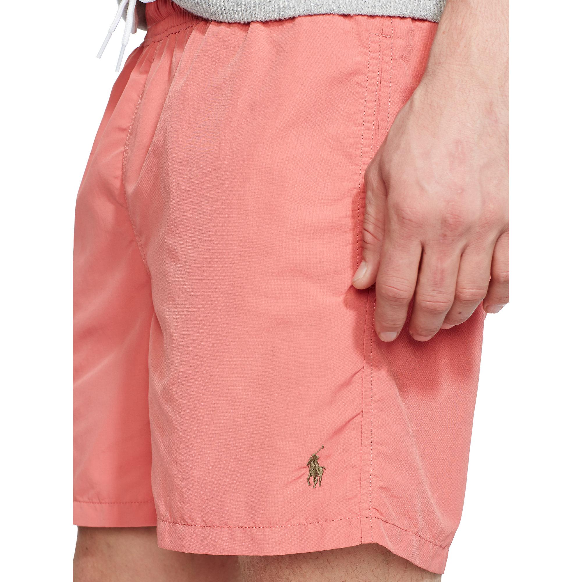 773ae3e8fb ... promo code lyst polo ralph lauren 6 solid hawaiian swim trunk in pink  for men 89510