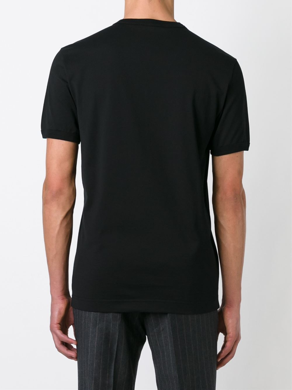 Dolce & gabbana Classic V-neck T-shirt in Black for Men