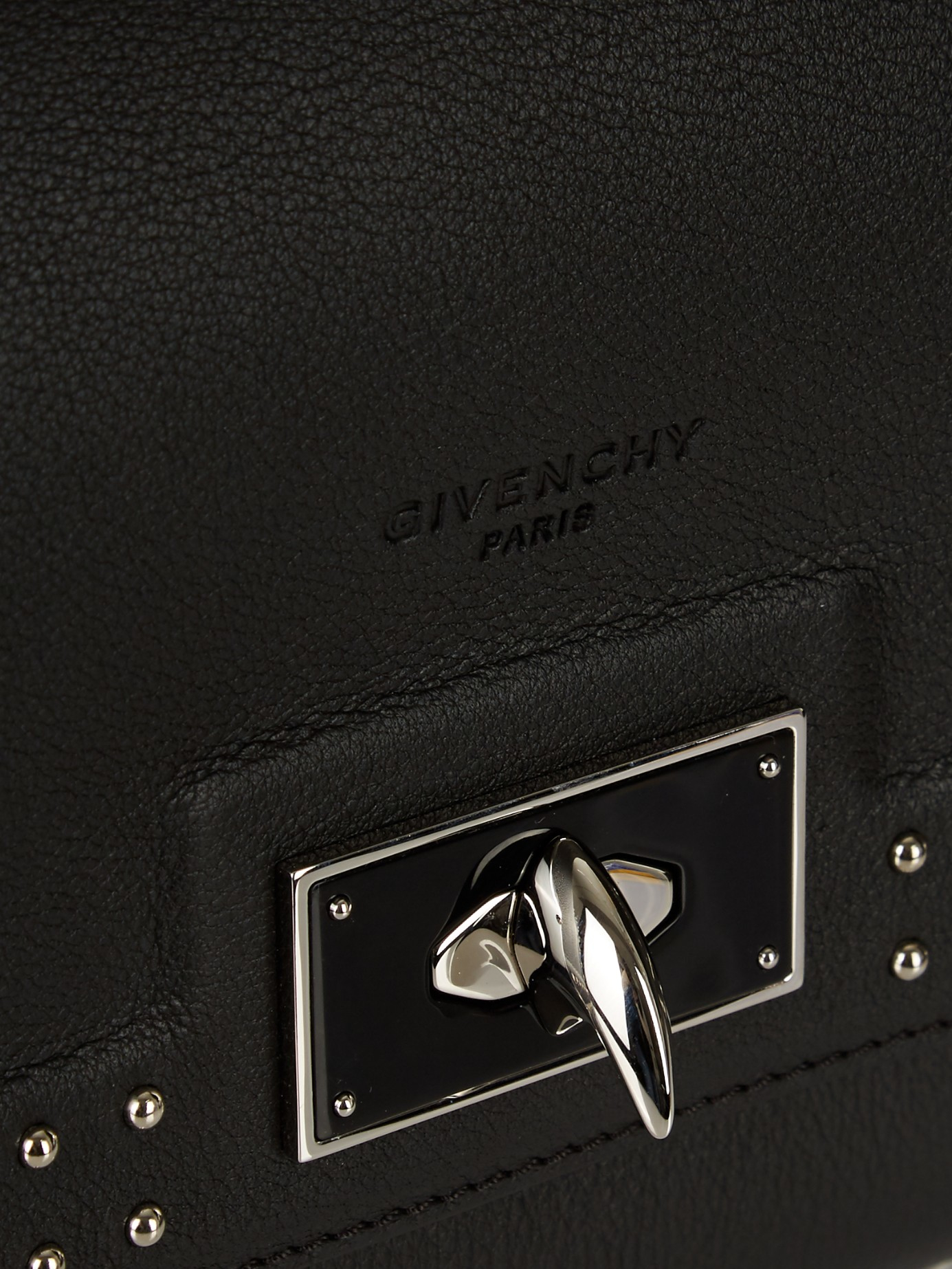 83497ddb8f39 Lyst - Givenchy Mini Shark Stud-trim Leather Cross-body Bag in Black