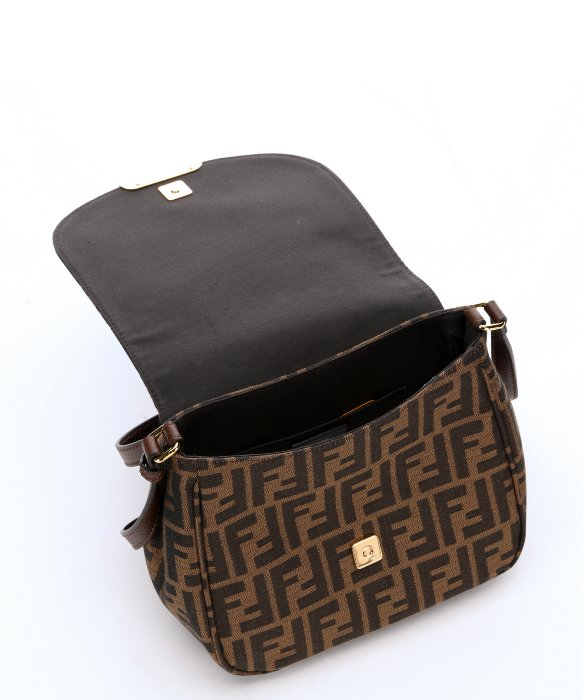 4dc00a141777 ... free shipping lyst fendi tobacco and nut zucca canvas crossbody bag in  brown 5e353 c4dc2