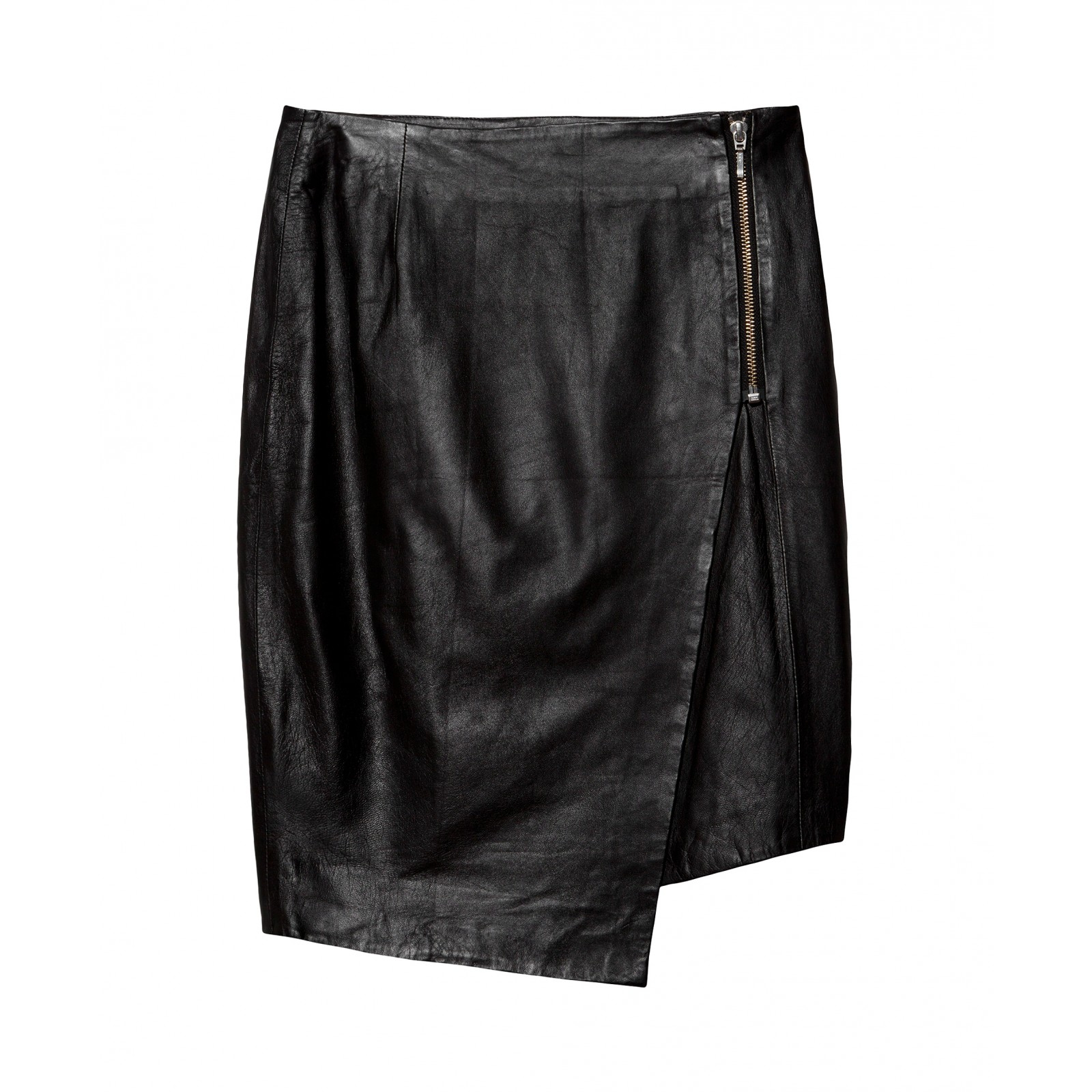 Nicholas Leather Asymmetrical Skirt in Black | Lyst