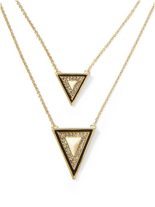 house of harlow 1960 teepee triangle necklace in gold lyst