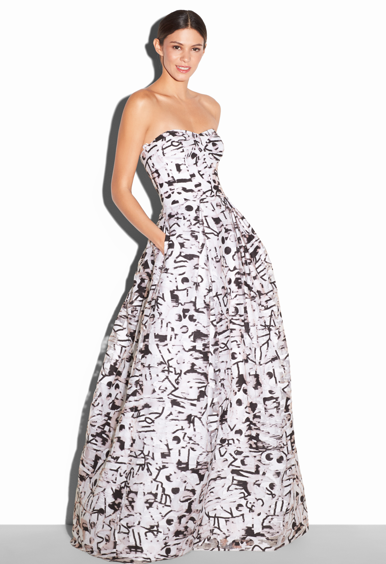 Milly Surrealist Fil Coupe Ava Gown Lyst