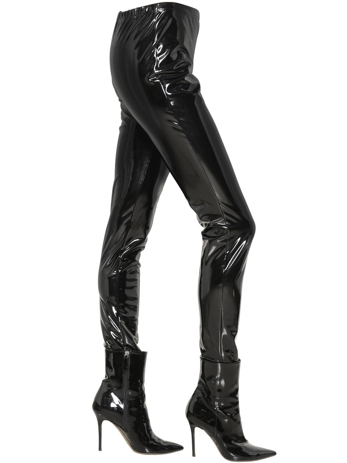 Wanda Nylon Stretch Vinyl Leggings In Black Lyst