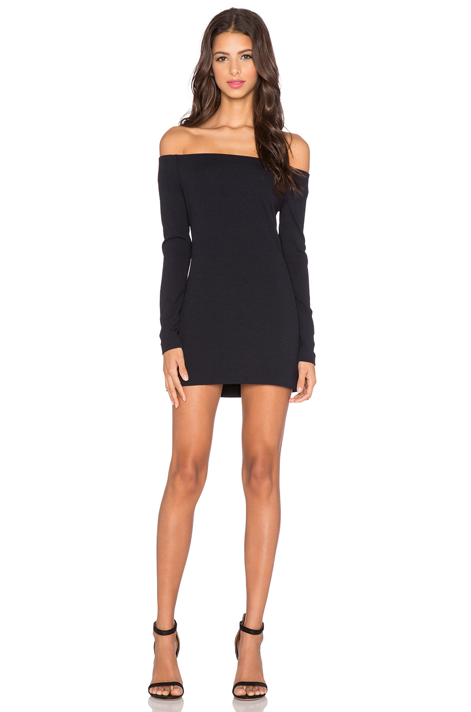 c22c55607e54 Tibi Off-The-Shoulder Mini Dress in Black - Lyst