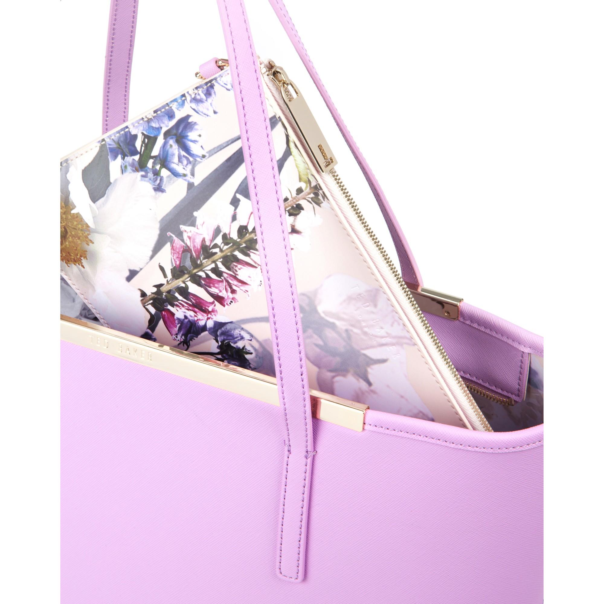 fa36f92083dbc Ted Baker Noelle Crosshatch Leather Shopper Bag in Purple - Lyst