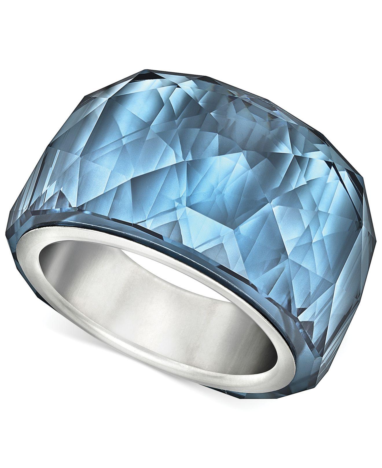 c24010e18 Swarovski Silvertone Montana Blue Crystal Ring in Blue - Lyst