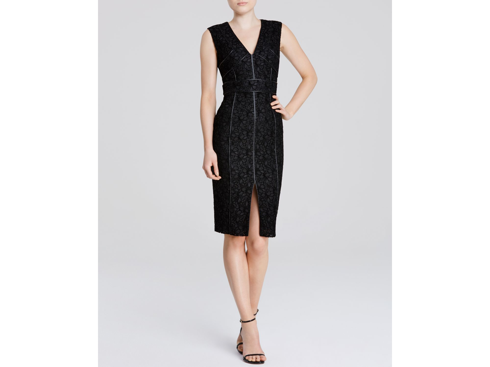 Bailey 44 leather lace dress