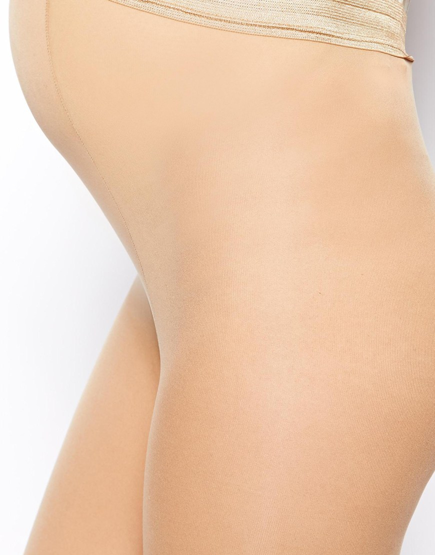 3f9df4abc50 ASOS 50 Denier Nude Tights With Supportive Band in Natural - Lyst