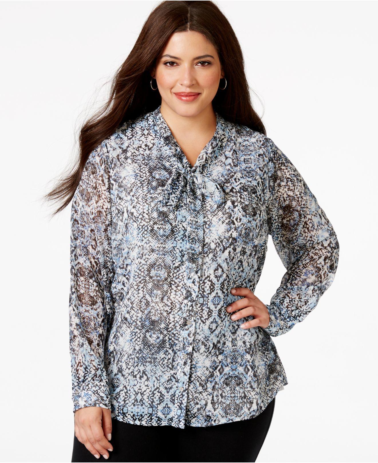 Neckline Drawing : Blouse plus size online murah lace henley