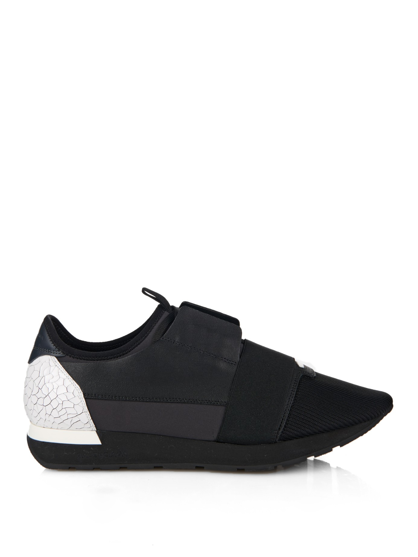 balenciaga leather low top trainers in black for men lyst. Black Bedroom Furniture Sets. Home Design Ideas