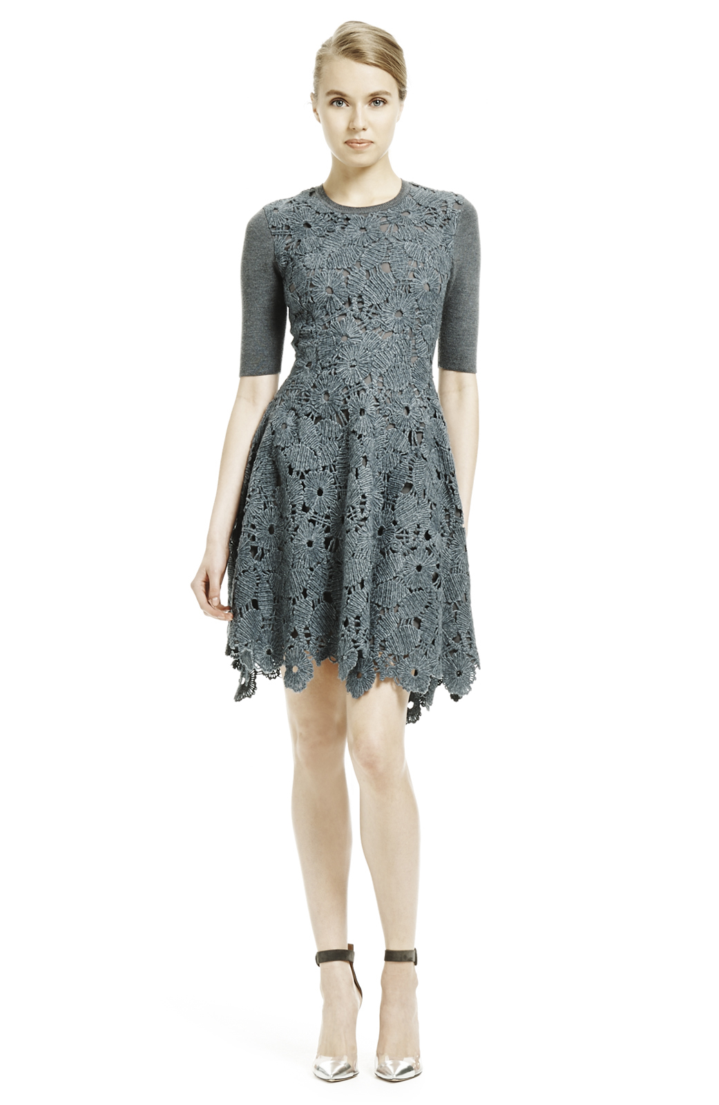 Lela rose grey dress