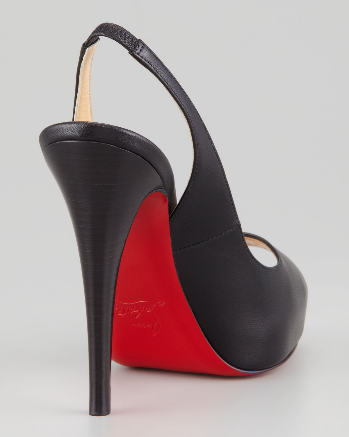 584635cc040 Lyst - Christian Louboutin No Prive Leather Slingback Red Sole Pump ...