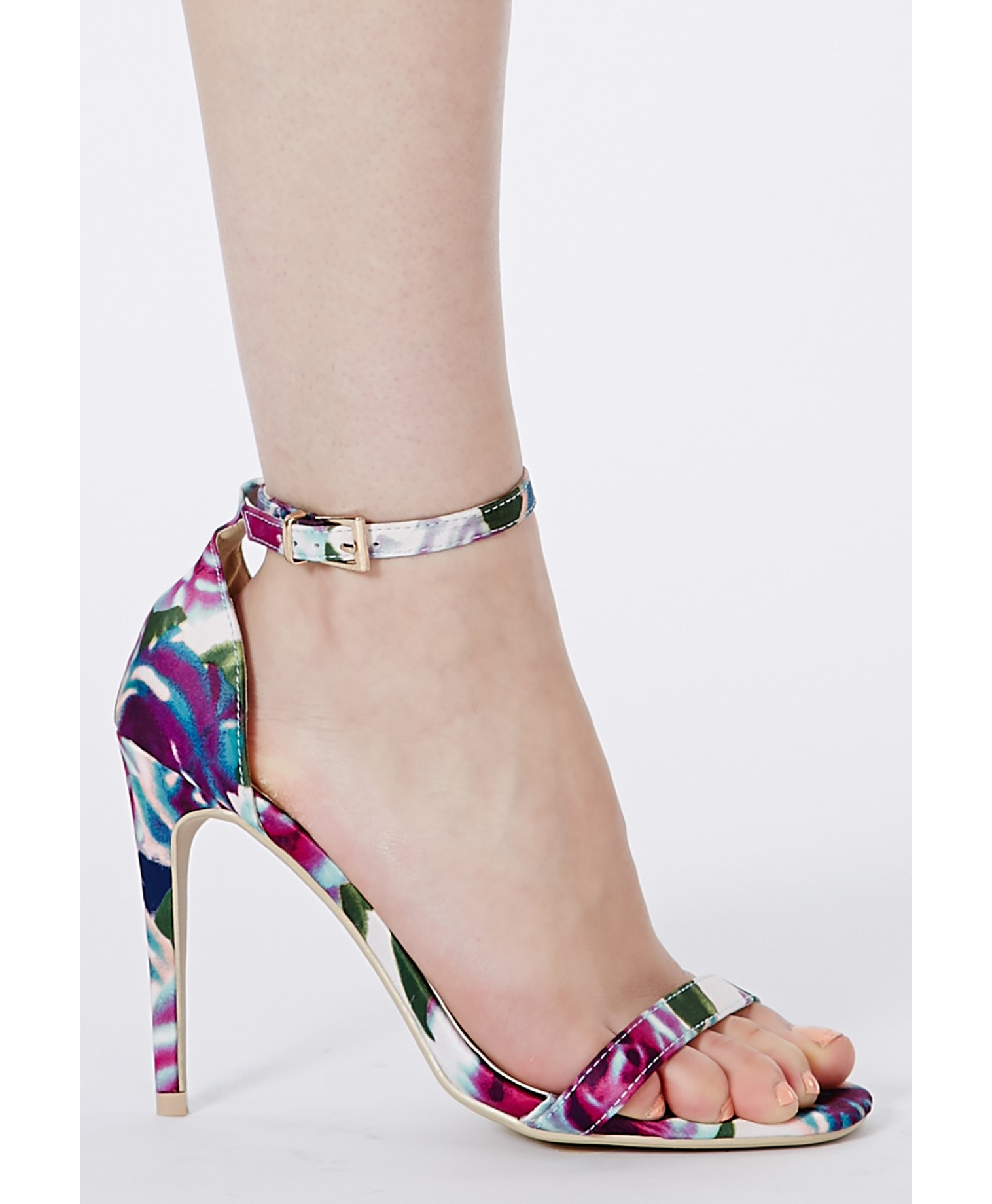 Lyst - Missguided Misty Strappy Sandals In Floral Print