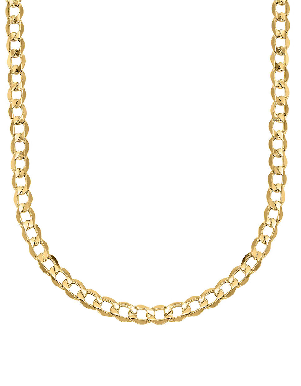 lord 14k yellow gold cuban chain link necklace in